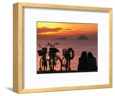 Couple at Beach at Sunrise, Nha Trang, Vietnam