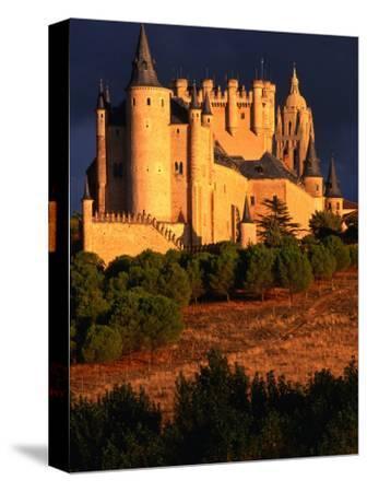 Exterior of Alcazar on Stormy Day, Segovia, Spain