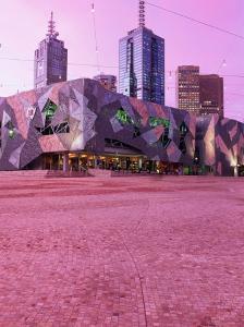 Federation Square at Dusk, Melbourne, Australia by John Banagan