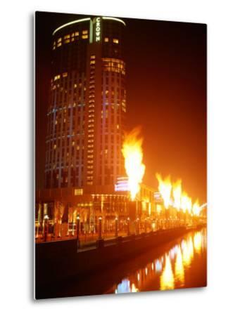 Fire Show in Front of Crown Casino, Melbourne, Australia