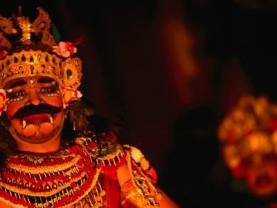 Legong Dancer in Mask During Performance, Ubud, Indonesia