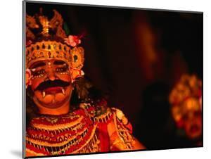 Legong Dancer in Mask During Performance, Ubud, Indonesia by John Banagan
