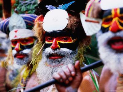 Munjika Tribesmen at Tabuga Village Sing Sing, Mt. Hagen, Western Highlands, Papua New Guinea