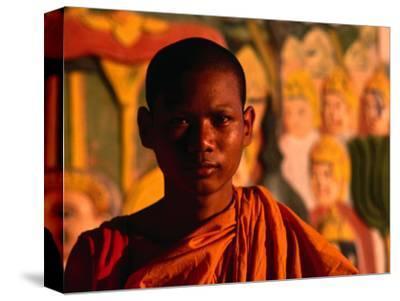 Portrait of Novice Monk, Phnom Penh, Cambodia