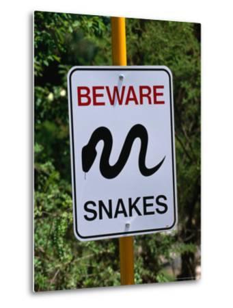 Snake Sign at Museum of Modern Art in Heidi, Melbourne, Australia