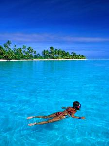 Snorkelling in Aitutaki Lagoon, Aitutaki, Southern Group, Cook Islands by John Banagan