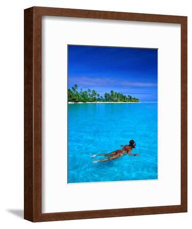 Snorkelling in Aitutaki Lagoon, Aitutaki, Southern Group, Cook Islands