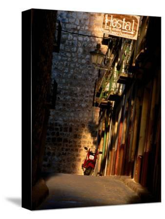 Street with Hostel Sign, Teruel, Spain