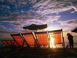 Sweeping Nha Trang Beach at Sunrise, Nha Trang, Khanh Hoa, Vietnam by John Banagan