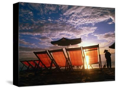Sweeping Nha Trang Beach at Sunrise, Nha Trang, Khanh Hoa, Vietnam