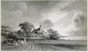 A Cottage Near the Shore of a Lake by John Baptist Malchair