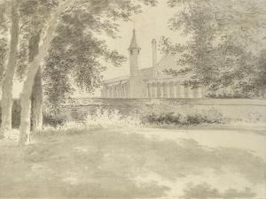 Balliol Chapel and Library from the Grove, 2 August 1783 (Grey Wash over Graphite) by John Baptist Malchair
