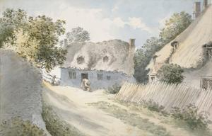 Cottages in a Village Street by John Baptist Malchair