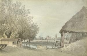 Ferry Hinksey, Near Oxford, 15 June 1789 (Watercolour over Graphite, on Paper) by John Baptist Malchair