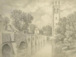 Magdalen Bridge and Tower by John Baptist Malchair