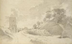 Oxford Castle and the Castle Mound, 27 May 1784 by John Baptist Malchair
