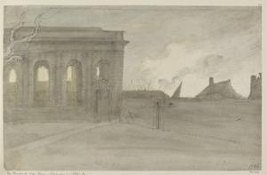 Pembroke Coll. Oxon., 9 November 1786 (Grey and Bistre Washes over Graphite) by John Baptist Malchair
