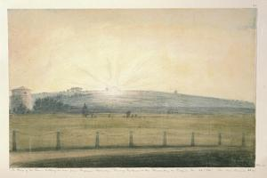 Sun Setting Seen from the Observatory at Oxford by John Baptist Malchair