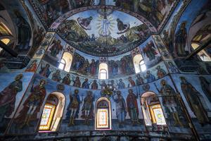 Wall murals in the Bachkovo Monastery, Rhodope mountains, Bulgaria, Europe by John Baran