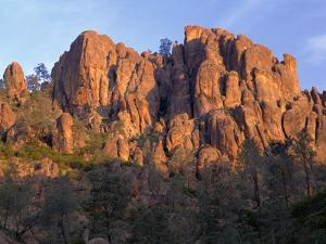 California, Pinnacles National Park, Sunrise Highlights Spires and Crags by John Barger