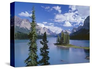 Canada, Alberta, Jasper National Park, Spirit Island and Maligne Lake by John Barger