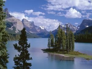 Canada, Alberta, Jasper National Park, Spirit Island and Maligne Lake by John Barger