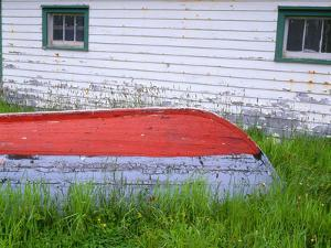 Canada, Newfoundland, Bauline East, Weathered Wooden Boat and Fishing Shed by John Barger