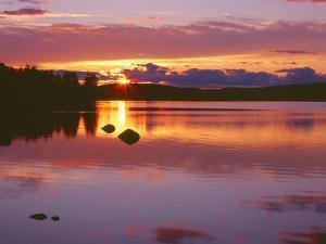 Canada, Newfoundland, Terra Nova National Park, Sunset over Alexander Bay by John Barger
