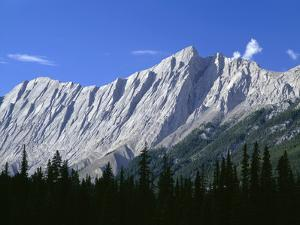Canada, Tilted and Eroded Limestone Rock Layers by John Barger