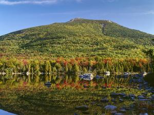 Maine, Baxter State Park, South Turner Mountain with Early Autumn Color Reflects by John Barger