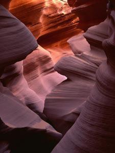 USA, Arizona, Navajo Tribal Park, Erosion of Navajo Sandstone of Lower Antelope Canyon by John Barger