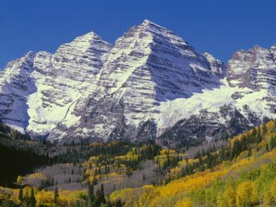 USA, Colorado, White River National Forest, Maroon Bells Snowmass Wilderness by John Barger