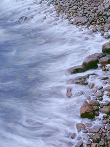 USA, Maine, Acadia National Park, Rocky Shoreline and Incoming Tide Near Thunder Hole by John Barger