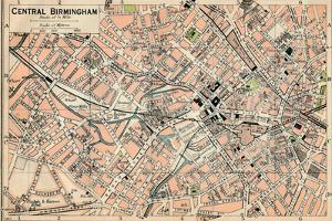 'Central Birmingham', c20th Century by John Bartholomew