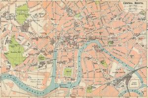 'Central Bristol' c20th Century by John Bartholomew