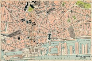 'Central Liverpool', c20th Century by John Bartholomew