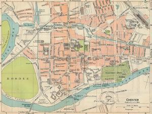 'Chester', c20th Century by John Bartholomew