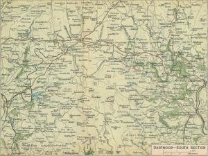 'Dartmoor - South Section', c20th Century by John Bartholomew