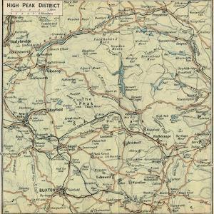 'High Peak District', c20th Century by John Bartholomew