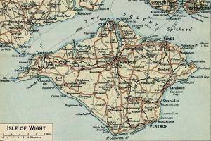 'Isle of Wight.', c20th Century by John Bartholomew