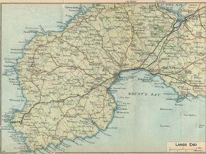 'Lands End', c20th Century by John Bartholomew