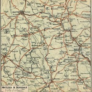 'Matlock & Dovedale', c20th Century by John Bartholomew