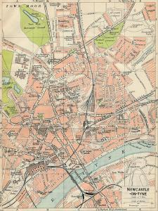 'Newcastle-on-Tyne', c20th Century by John Bartholomew