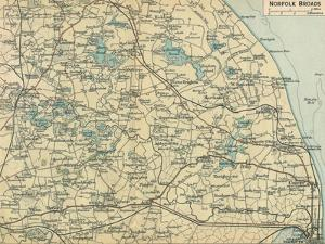 'Norfolk Broads', c20th Century by John Bartholomew