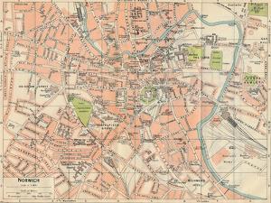'Norwich', c20th Century by John Bartholomew