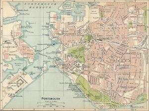 'Portsmouth', c20th Century by John Bartholomew