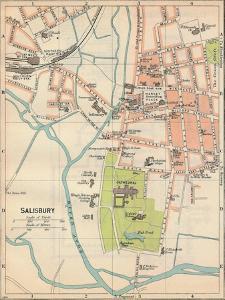 'Salisbury', c20th Century by John Bartholomew
