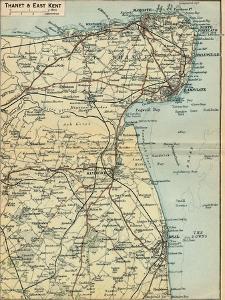 'Thanet & East Kent', c20th Century by John Bartholomew