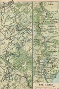 'Wye Valley', c20th Century by John Bartholomew