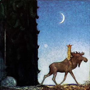 The Moose and the Princess by John Bauer